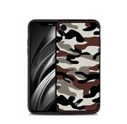 GSMWise Apple iPhone XR Hoesje - Back Case Camouflage Stijl - Bruin