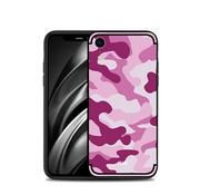 GSMWise Apple iPhone XR Hoesje - Back Case Camouflage Stijl - Roze