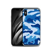 GSMWise Apple iPhone XS Max Hoesje - Back Case Camouflage Stijl - Blauw