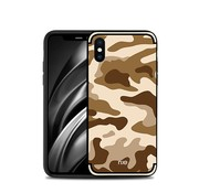 GSMWise Apple iPhone XS Max Hoesje - Back Case Camouflage Stijl - Bruin