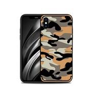 GSMWise Apple iPhone XS Max Hoesje - Back Case Camouflage Stijl - Oranje