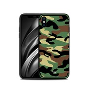 GSMWise Apple iPhone XS Max Hoesje - Back Case Camouflage Stijl - Groen