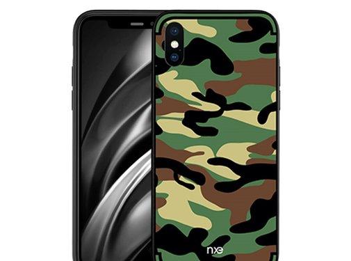 GSMWise Apple iPhone XS Max Hoesje - Back Case Camouflage Stijl - Groen