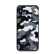 GSMWise Apple iPhone XS Max Hoesje - Back Case Camouflage Stijl - Grijs