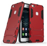 GSMWise Huawei P10 Lite Hoesje - Hybride Hard Case met standaard - Rood