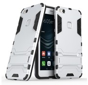 GSMWise Huawei P10 Lite Hoesje - Hybride Hard Case met standaard - Zilver