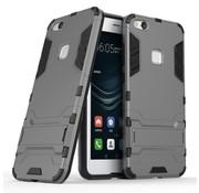 GSMWise Huawei P10 Lite Hoesje - Hybride Hard Case met standaard - Grijs