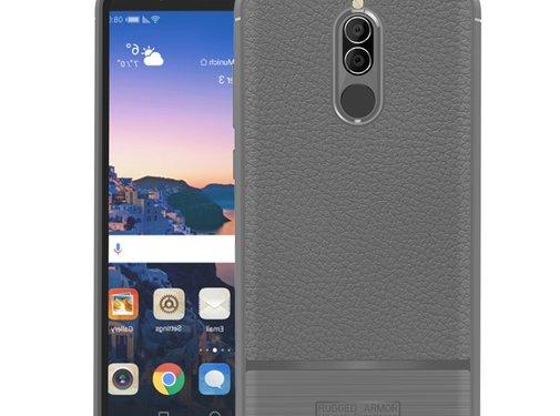 GSMWise Huawei Mate 10 Lite Hoesje - Geborsteld Flexibele TPU Back Case - Grijs