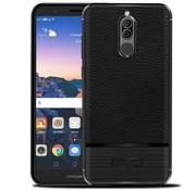 GSMWise Huawei Mate 10 Lite Hoesje - Geborsteld Flexibele TPU Back Case - Zwart