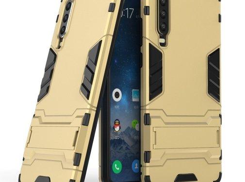 GSMWise Huawei P30 Hoesje - Hybride Hard Case met standaard - Goud