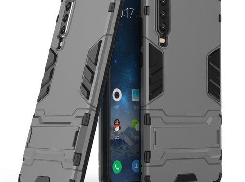 GSMWise Huawei P30 Hoesje - Hybride Hard Case met standaard - Grijs