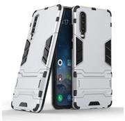 GSMWise Huawei P30 Hoesje - Hybride Hard Case met standaard - Zilver