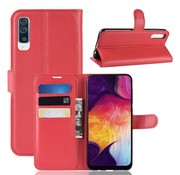GSMWise Samsung Galaxy A50 Hoesje - Wallet Case - Rood