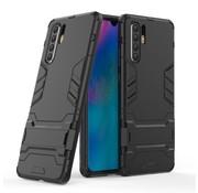 GSMWise Huawei P30 Pro Hoesje - Hybride Hard Case met standaard - Zwart