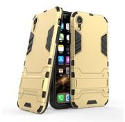 GSMWise Apple iPhone XR Hoesje - Hybride Hard Case met standaard - Goud