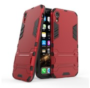GSMWise Apple iPhone XR Hoesje - Hybride Hard Case met standaard - Rood