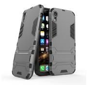 GSMWise Apple iPhone XR Hoesje - Hybride Hard Case met standaard - Grijs