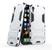 GSMWise Apple iPhone XR Hoesje - Hybride Hard Case met standaard - Zilver