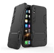 GSMWise Apple iPhone XR Hoesje - Hybride Hard Case met standaard - Zwart