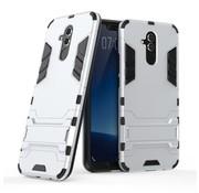 GSMWise Huawei Mate 20 Lite Hoesje - Hybride Hard Case met standaard - Zilver