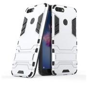 GSMWise Huawei P Smart (2018) Hoesje - Hybride Hard Case met standaard - Zilver