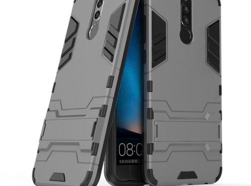 GSMWise Huawei Mate 10 Lite Hoesje - Hybride Hard Case met standaard - Grijs