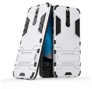 GSMWise Huawei Mate 10 Lite Hoesje - Hybride Hard Case met standaard - Zilver