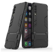 GSMWise Samsung Galaxy A50 Hoesje - Hybride Hard Case met standaard - Zwart