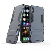 GSMWise Apple iPhone XS Max Hoesje - Hybride Hard Case met standaard - Blauw
