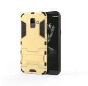 GSMWise Samsung Galaxy A6 (2018) Hoesje - Hybride Hard Case met standaard - Goud