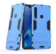 GSMWise Samsung Galaxy A9 (2018) Hoesje - Hybride Hard Case met standaard - Blauw