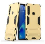 GSMWise Samsung Galaxy A9 (2018) Hoesje - Hybride Hard Case met standaard - Goud