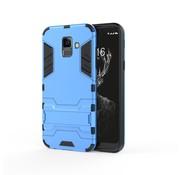 GSMWise Samsung Galaxy A6 (2018) Hoesje - Hybride Hard Case met standaard - Blauw