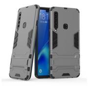 GSMWise Samsung Galaxy A9 (2018) Hoesje - Hybride Hard Case met standaard - Grijs