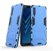 GSMWise Samsung Galaxy A7 (2018) Hoesje - Hybride Hard Case met standaard - Blauw
