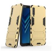 GSMWise Samsung Galaxy A7 (2018) Hoesje - Hybride Hard Case met standaard - Goud