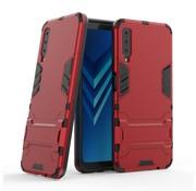 GSMWise Samsung Galaxy A7 (2018) Hoesje - Hybride Hard Case met standaard - Rood