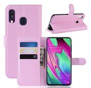 GSMWise Samsung Galaxy A40 Hoesje - Wallet Case - Roze