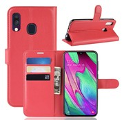 GSMWise Samsung Galaxy A40 Hoesje - Wallet Case - Rood