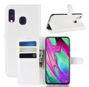GSMWise Samsung Galaxy A40 Hoesje - Wallet Case - Wit