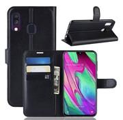 GSMWise Samsung Galaxy A40 Hoesje - Wallet Case - Zwart