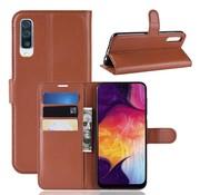 GSMWise Samsung Galaxy A50 Hoesje - Wallet Case - Bruin