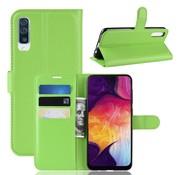 GSMWise Samsung Galaxy A50 Hoesje - Wallet Case - Groen