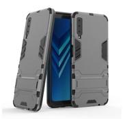 GSMWise Samsung Galaxy A7 (2018) Hoesje - Hybride Hard Case met standaard - Grijs