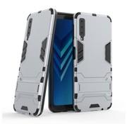 GSMWise Samsung Galaxy A7 (2018) Hoesje - Hybride Hard Case met standaard - Zilver