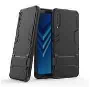 GSMWise Samsung Galaxy A7 (2018) Hoesje - Hybride Hard Case met standaard - Zwart
