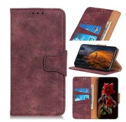 GSMWise Huawei P Smart Plus (2019) Hoesje - Vintage Wallet Case met Kaarthouder - Wijn Rood