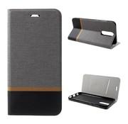 GSMWise Huawei Mate 10 Lite Hoesje - Denim Book Case - Grijs