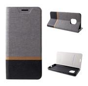 GSMWise Huawei Mate 20 Pro Hoesje - Denim Book Case - Grijs