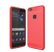 GSMWise Huawei P10 Lite Hoesje - Carbon Fiber Design Back Case - Rood